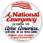 Arise America Before It Is Too Late - Join The Navy Round Beach Towel
