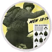 Join The Us Army - Follow Me Round Beach Towel