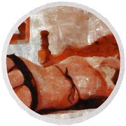 Join Us By Mary Bassett Round Beach Towel