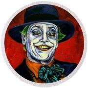 Joker Round Beach Towel