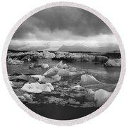 Jokulsarlon Glacier Lagoon Iceland 2041 Round Beach Towel