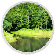 Jones Mill Run Creek Round Beach Towel