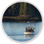 Jonespot, Maine  Round Beach Towel