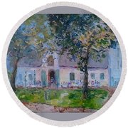 Jonkerhshuis At Groot Constantia Round Beach Towel