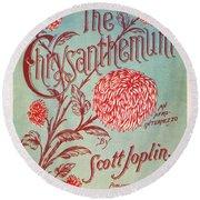 Joplin: Chrysanthemum Round Beach Towel