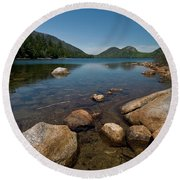 Jordon Pond Round Beach Towel