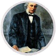 Joseph Lister, Surgeon And Inventor Round Beach Towel