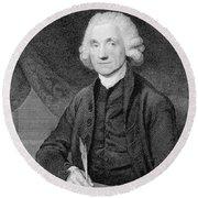 Joseph Priestley, English Chemist Round Beach Towel