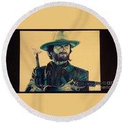 Josey Wales Outlaw. Smokin Gun Round Beach Towel