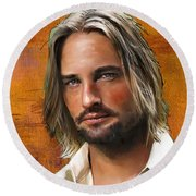 Josh Holloway Round Beach Towel