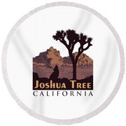 Joshua Tree. Round Beach Towel