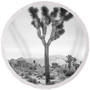 Joshua Tree Before Storm Round Beach Towel
