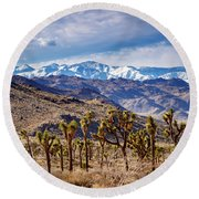 Joshua Tree National Park 2 Round Beach Towel