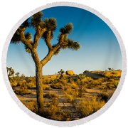 Joshua Tree Panoramic Round Beach Towel