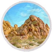 Joshua Tree Rocks Round Beach Towel