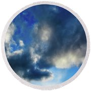 Joshua Tree Sky Round Beach Towel