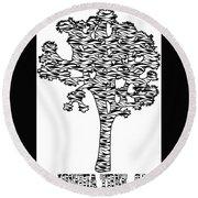 Joshua Tree Zebra Stripes Round Beach Towel