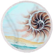 Journey To The Center Round Beach Towel