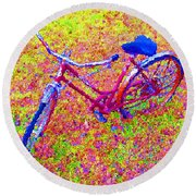 Joy, The Bike Ride Round Beach Towel