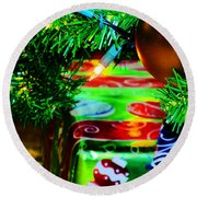 Joy Of Christmas 1 Round Beach Towel