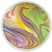 Joyful Flow Round Beach Towel