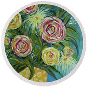 Joyful Round Beach Towel