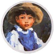 Juan Also Known As Jose No 2 Mexican Boy 1916 Round Beach Towel