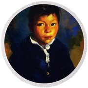 Juanita Also Known As Little Half Breed 1917 Round Beach Towel