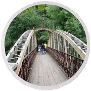 Jubilee Bridge - Matlock Bath Round Beach Towel