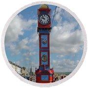 Jubilee Clock - Weymouth Round Beach Towel