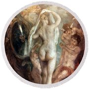 Judgment Of Paris Round Beach Towel