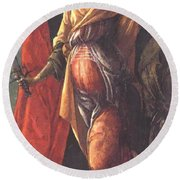 Judith Leaving The Tent Of Holofernes 1500 Round Beach Towel