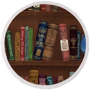 Jugglin' The Books Round Beach Towel