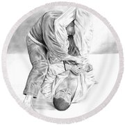 Jiu Jitsu Fundamentals The Armbar Round Beach Towel