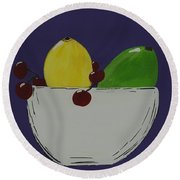 Juicy Fruit Round Beach Towel