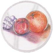 Juicy Fruits Round Beach Towel