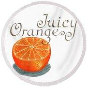 Juicy Orange Round Beach Towel