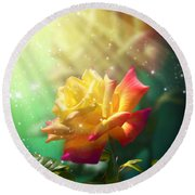 Juicy Rose Round Beach Towel by Svetlana Sewell