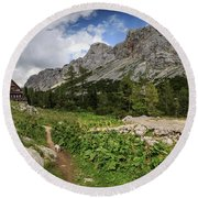 Julian Alps Round Beach Towel