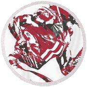 Julio Jones Atlanta Falcons Pixel Art 11 Round Beach Towel