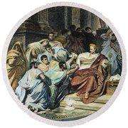 Julius Caesar (100-44 B.c.) Round Beach Towel