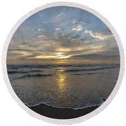 July 2015 Sunset Part 1 Round Beach Towel