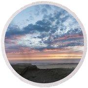 July 2015 Sunset Part 2 Round Beach Towel