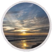 July 2015 Sunset Part 3 Round Beach Towel