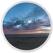 July 2015 Sunset Part 4 Round Beach Towel