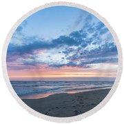 July 2015 Sunset Part 5 Round Beach Towel