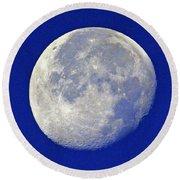 D6b6303-july 4th Moon 2015  Round Beach Towel