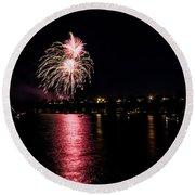 July Fireworks Round Beach Towel