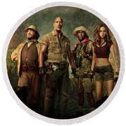Jumanji Welcome To The Jungle 2.0 Round Beach Towel