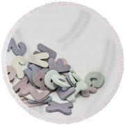 Jumbled Letters Round Beach Towel